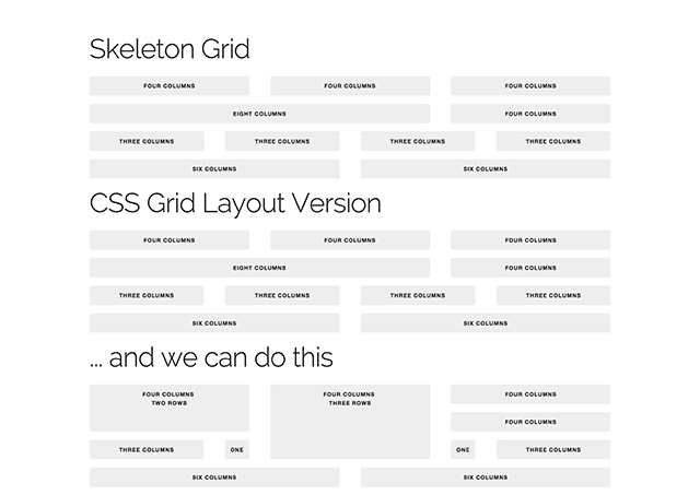 Skeleton 12 column grid experiments