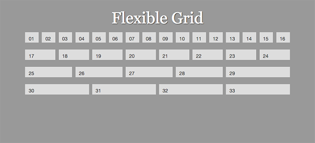 16 column flexible grid